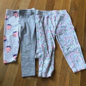 Bundle of Carter's girls leggings